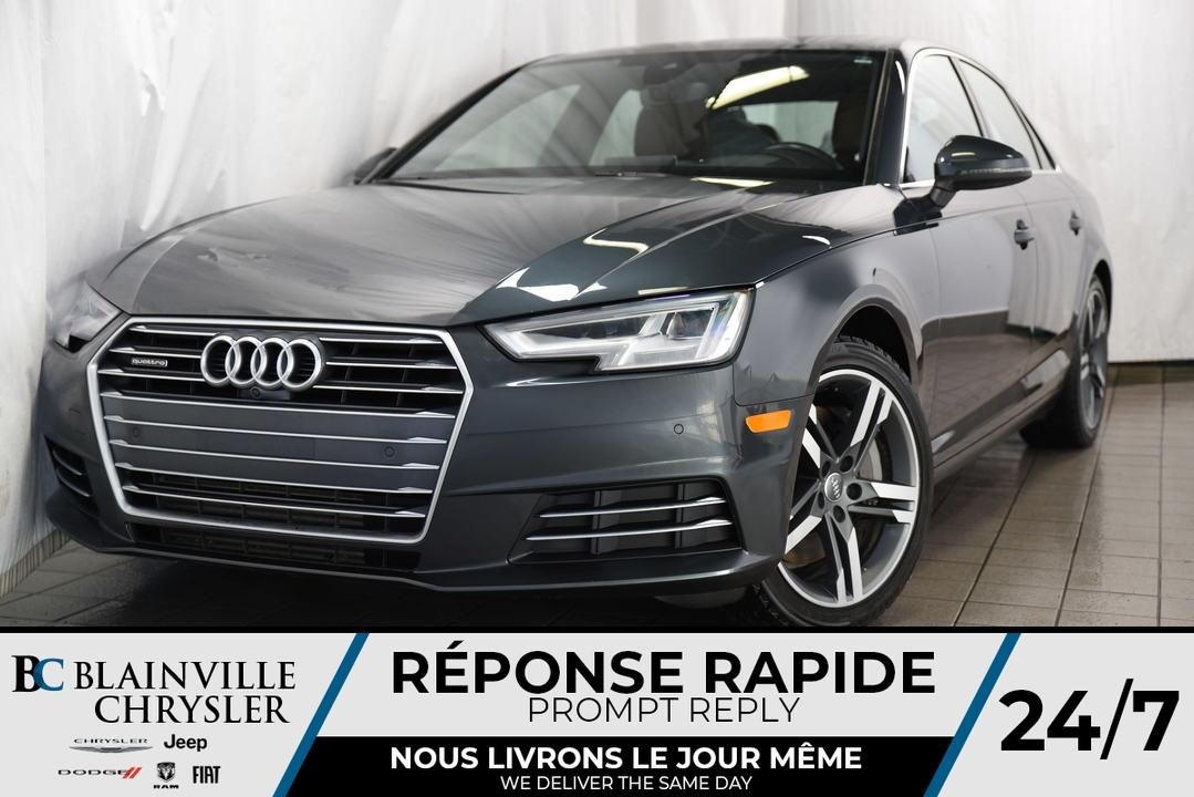 Audi A-4 TECHNIK * QUATTRO * GPS * INTÉRIEUR BRUN * 2017