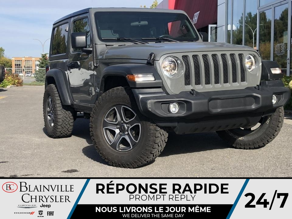Jeep Wrangler 2021 FREEDOM TOP * SIEGES + VOLANT CHAUFFANTS *
