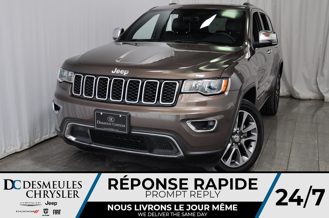 Jeep Grand Cherokee Limited * Cam Rec * 4 Sièges Chauff * NAV 2018